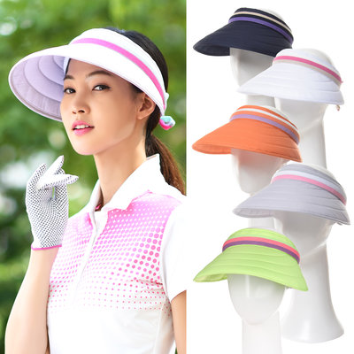 La Sra. Correo directo sin techo solar de golf de Corea del Sur, gran sombrero el sombrero del golf femenino XA422