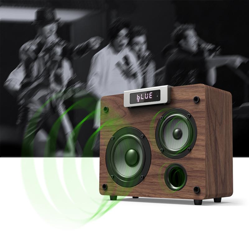 Retro - bluetooth - lautsprecher drahtlosen hochleistungs - Haushalt von desktop - audio - handys fieber Hickory subwoofer
