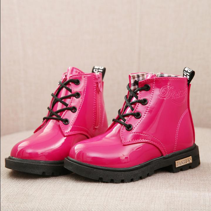 大女童靴子公主单靴春秋儿童短靴男女童鞋马丁靴雪地鞋宝宝单靴
