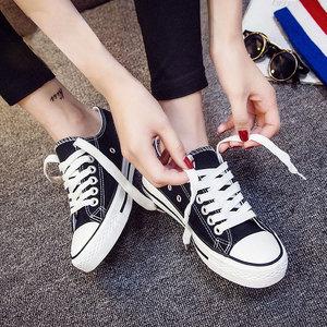 小白帆布女鞋休闲球鞋新款2019春夏板鞋韩版百搭学生ulzzang布鞋