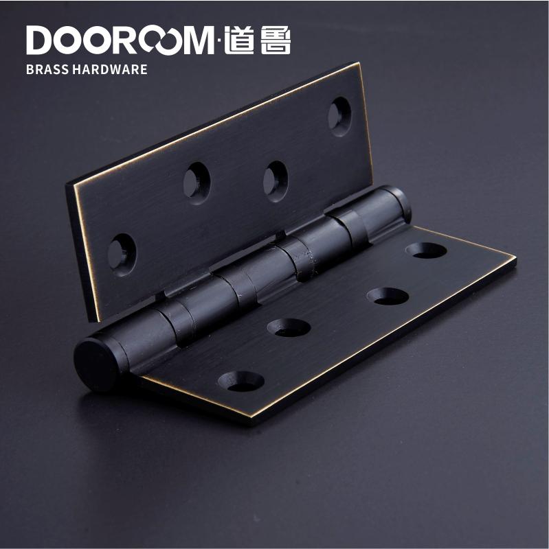 El engrosamiento de cobre de 4 pulgadas de 5 pulgadas American negro abre la puerta de madera maciza de bronce retro mudo de cobre un precio.