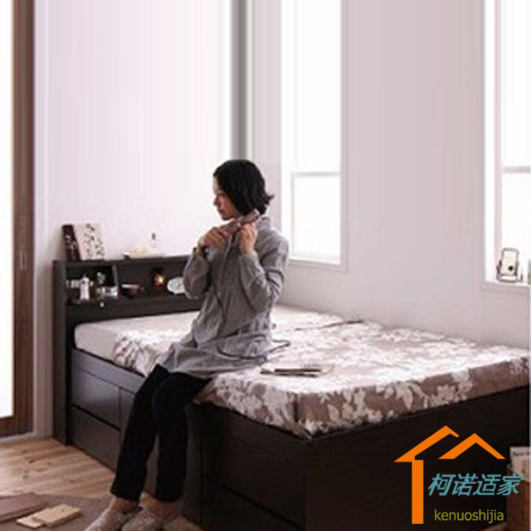 The plate sheets bed 1.2 meters 1.5 meters containing bed bed bed storage bed drawer bed tatami bed modern minimalist