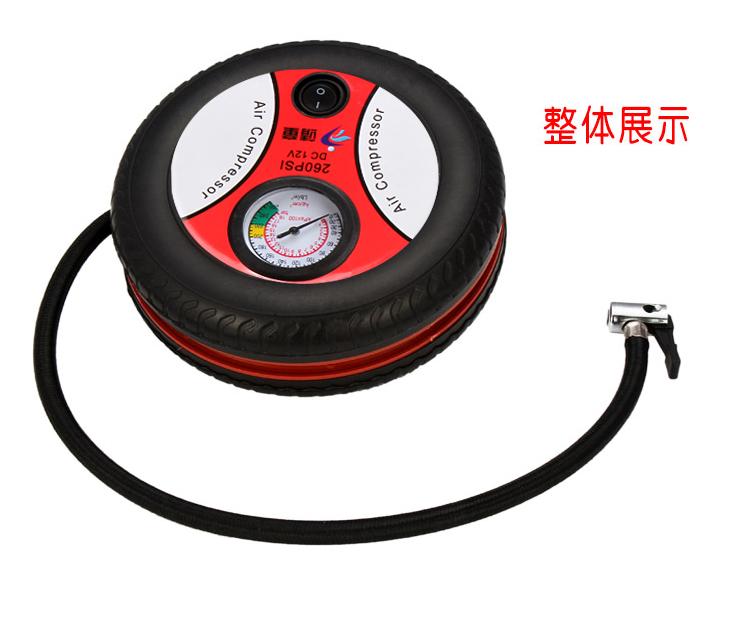 гумите на превозното средство, преносими кола кола с помпа за 12v - цилиндров електрическа помпа