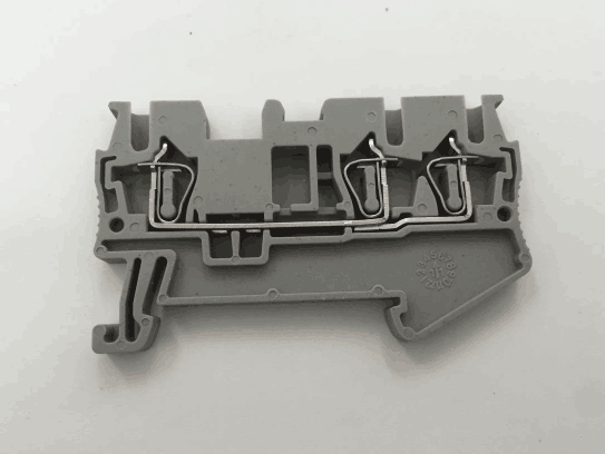 ST2.5 one in, two out, pull spring connection terminal FJ-2.5 through cage type terminal block row