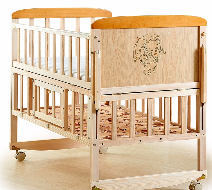 Το μωρό στο κρεβάτι χωρίς μπογιά πολυλειτουργική πτυσσόμενο με κουνουπιέρα, το μωρό κοιμάται το παιδί του Θεού... ββ