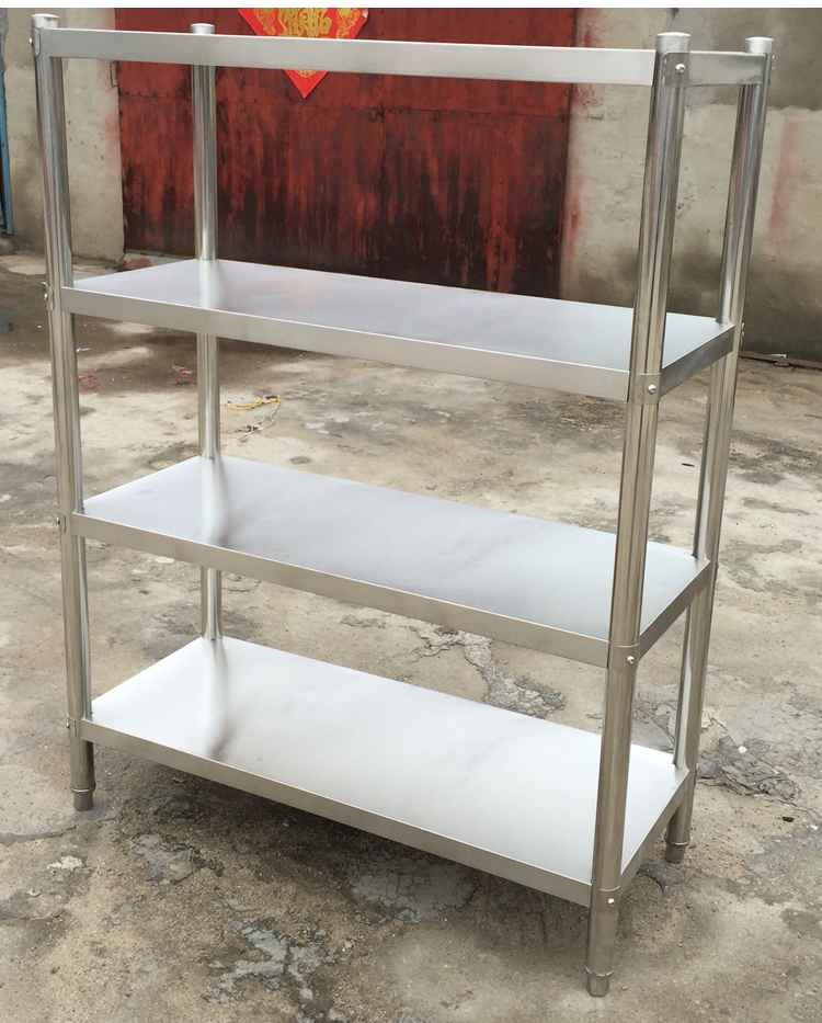 Commercial stainless steel flat shelf, kitchen rack, stainless steel shelf, household storage rack customized package mail