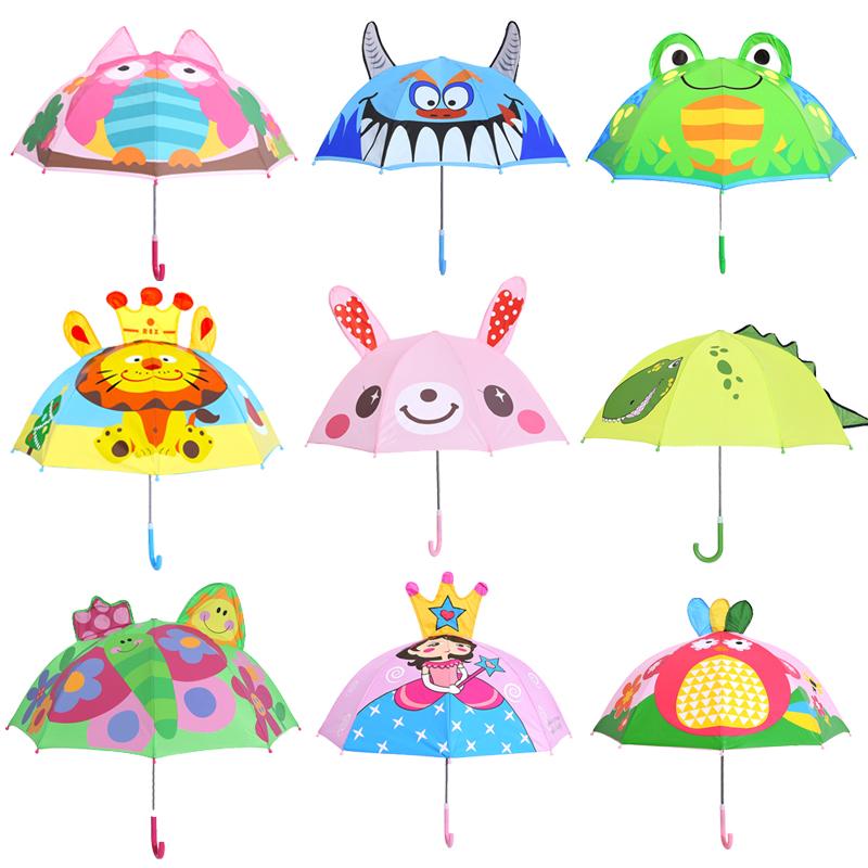 小童洋伞长柄伞儿童雨伞小学生轻便小孩男童幼儿园男女专用卡通收
