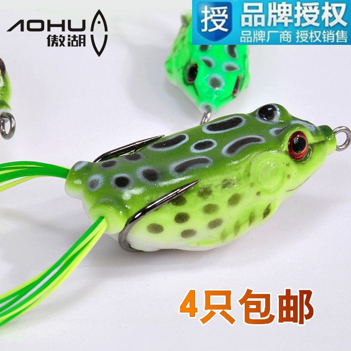 4 shipping frog frog lures snakehead designed to kill the lures in freshwater fishing hook bait with bionic sinker