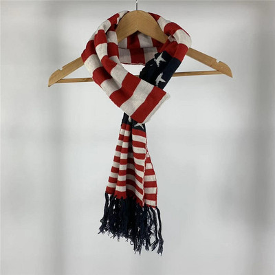 小武出品复古美旗冬季男女通款保暖围巾长款围脖针织毛线流苏披肩原单