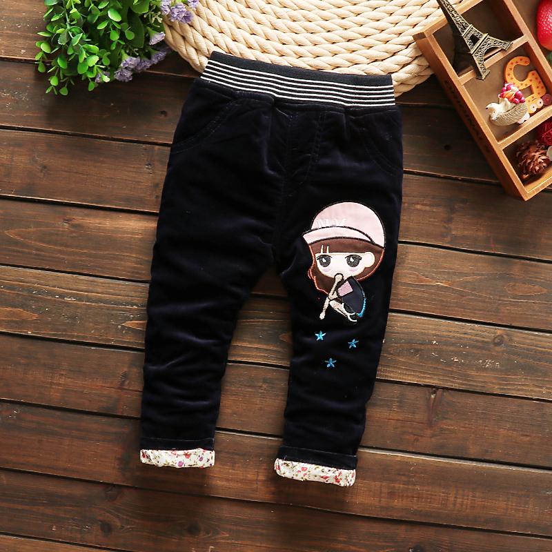 0-1-2-3岁女宝宝条绒裤婴儿裤子加绒加厚小童女秋冬裤女童可开裆