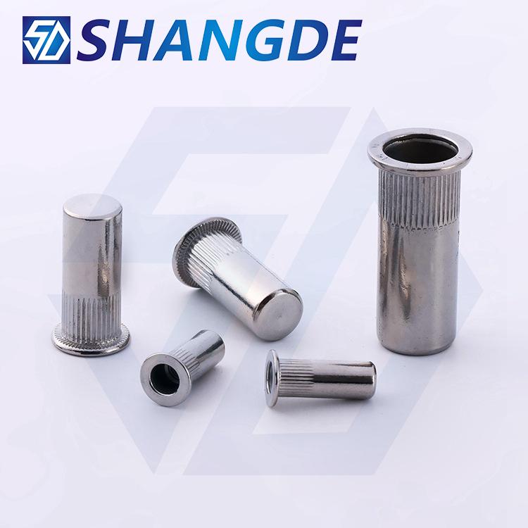 304 stainless steel blind hole pulling cap m3m4m5m6m8m10m12 flat head vertical seal type waterproof pull rivet nut