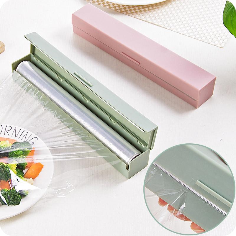 สร้างสรรค์อุปกรณ์ครัวสแตนเลสใบมีดเครื่องตัดฟิล์มห่ออาหารฟิล์มห่ออาหารกล่องชุดครัวเครื่องมือตัด