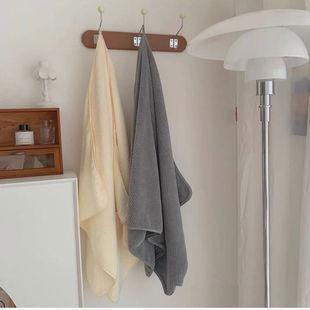 人手一条~ 柔软吸水菠萝格纯色浴巾 家用洗澡速干可穿可裹大毛巾
