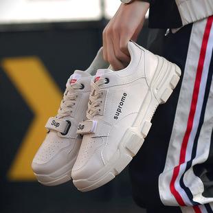 男鞋春季2019新款潮流潮鞋运动休闲韩版潮流小白百搭板鞋帆布鞋子