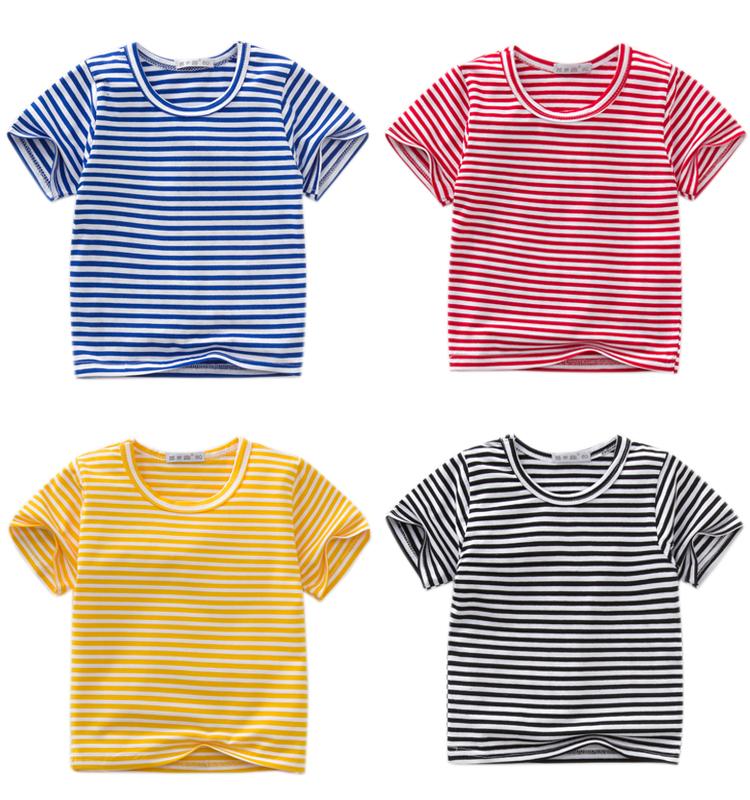 女童打底衫男童上衣纯棉半袖儿童t恤夏装中小童装婴儿宝宝短袖T恤