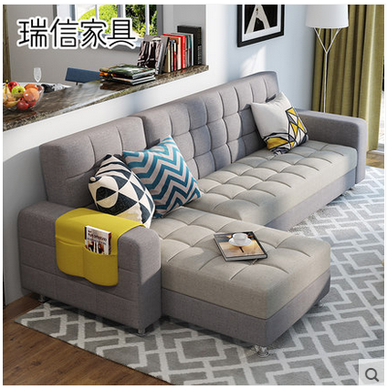 小さいタイプの部屋は多機能してベッドルームの現代的な応接セットの布製のソファーの3人のソファーの3人のソファー