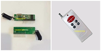 6 button remote control with learning type 6 way receive module, wireless six keys remote control and wireless six way decoding receiving head