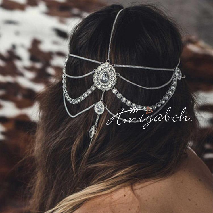Europa und die großen luxus - Hochzeit wassertropfen party capitatum strass - köpfe haarband ausgehöhlten quasten haarband - accessoires