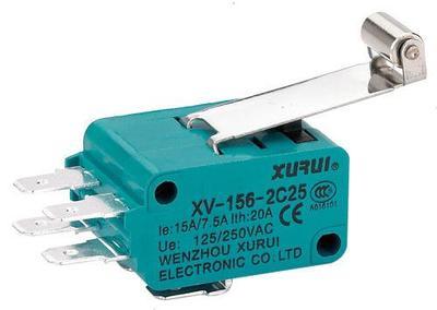 Autentico sunry microswitch XV-156-2C25 a doppio Manico lungo contatto microswitch d'Argento.