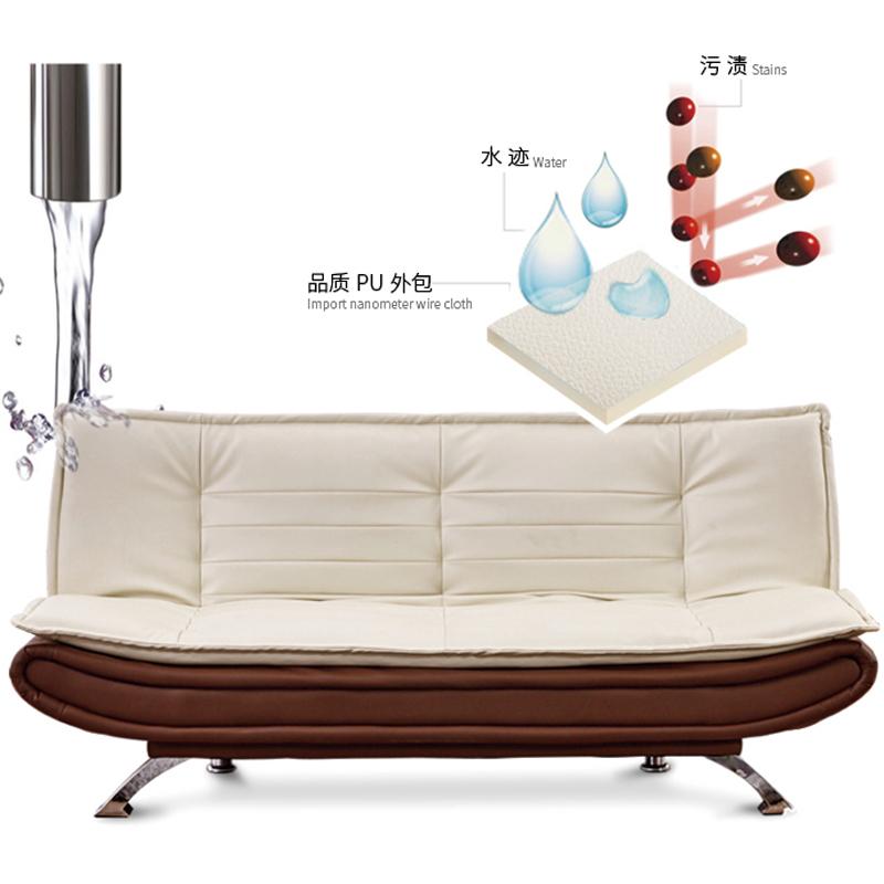 De multiples fonctions de cuir Arts simple peut être plié de petite taille de canapé - lit paresseux à double chambre salon de 1,5 m de 1,8