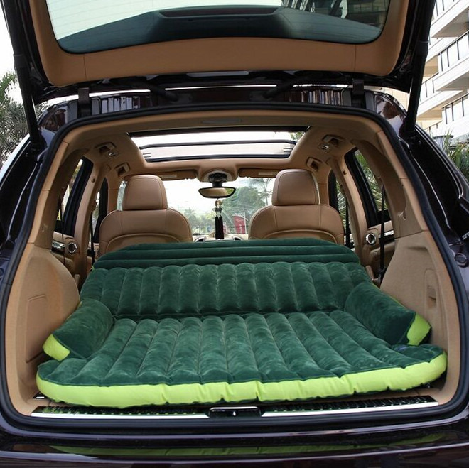 The car rear seat down after the boot SUV general trunk folding car car travel air mattress bed