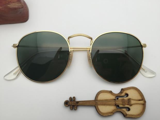 New Sunglasses RB3447 001 Green Film Men and women sunglasses package mail