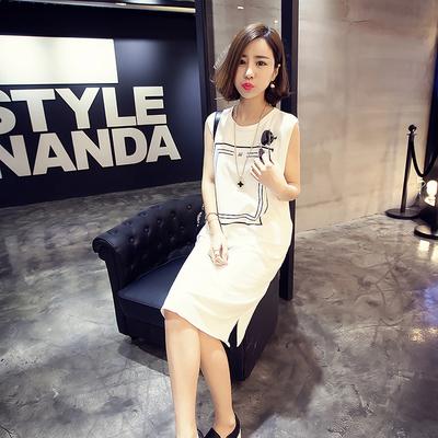 大方格白裙