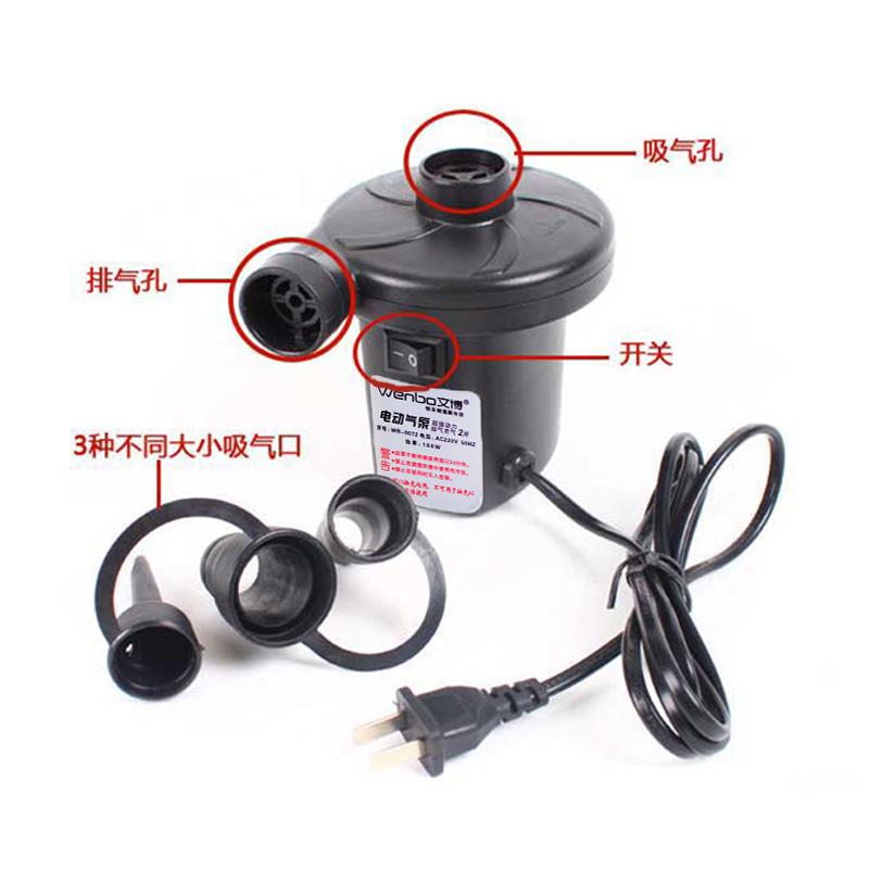 공기 펌프 전기 가정용 겸용 차량 전화 에어 펌프 220v 수영장 12v 가스 침대 수영 바퀴 공기함을 친다