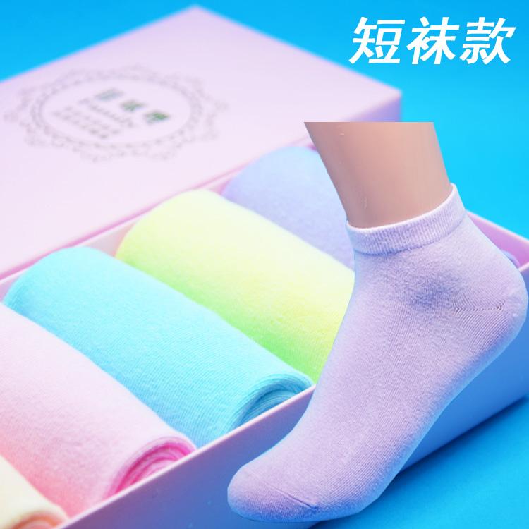 MT-女短袜糖果六双
