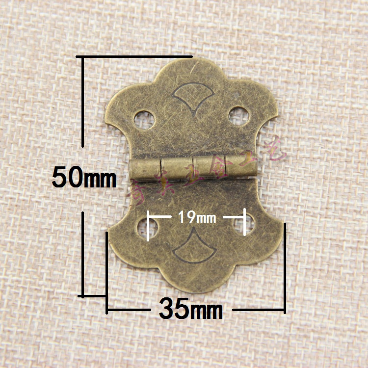 Super quality! 1.5 inch antique wooden box hinge door hinge hinge hinge mounted flat within 180 degrees