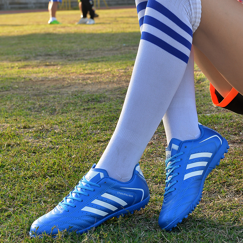 足球鞋男TF碎钉男女中小学生人造草地儿童足球鞋防滑小孩足球鞋