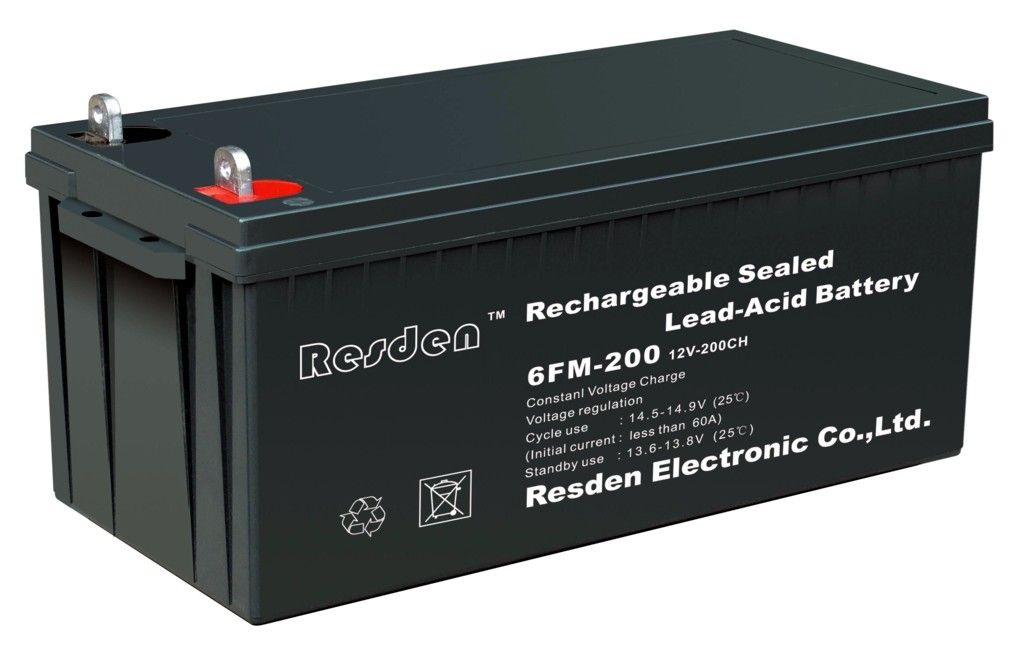 Resden 6GFM20012V200AHUPS/EPS DC battery special deep cycle batteries