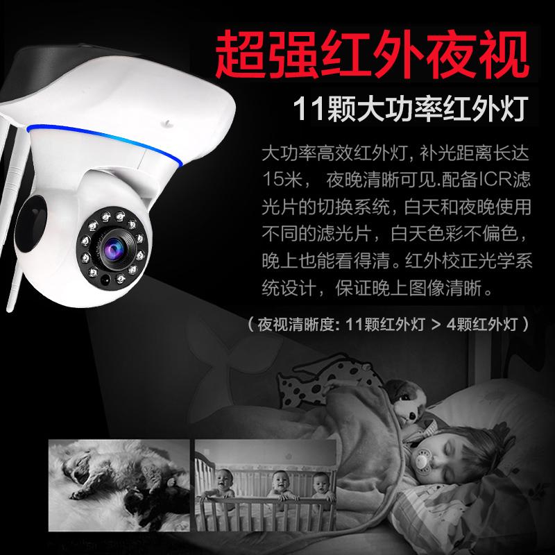 هد الرؤية الليلية كاميرا لاسلكية واي فاي جهاز كم المنزلية الداخلية والخارجية آلة متكاملة رصد مسبار الأشعة تحت الحمراء