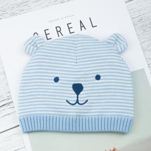 宝宝帽子秋冬季男童3-6-12个月婴儿毛线帽女秋季新生儿帽春秋1岁