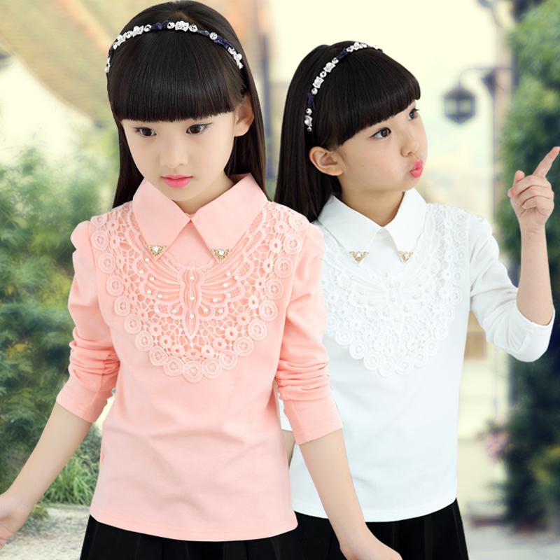 女童打底衫秋裝加絨加厚2017新款韓版兒童長袖純棉t恤中大童上衣