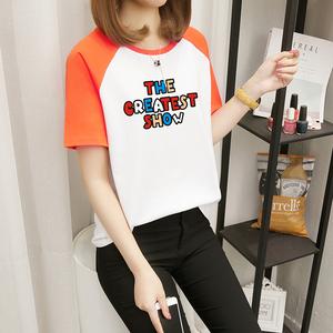 实拍 E3123#(6535)春季新款韩范圆领夏百搭t恤女上衣 M-XXL (6色)