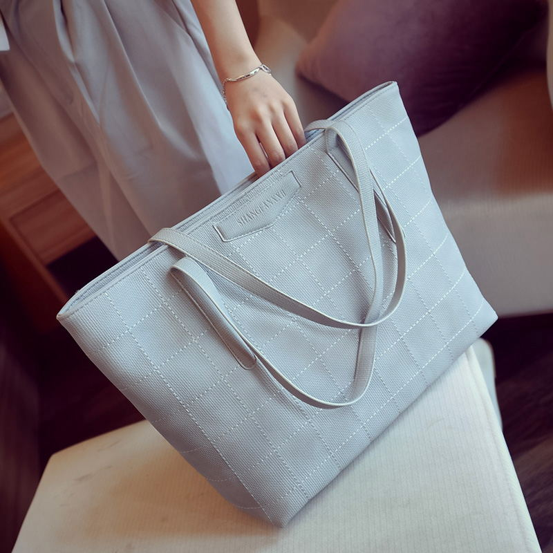 2017 spring new casual lady satchel female big bag female simple shoulder bag female big bag college students