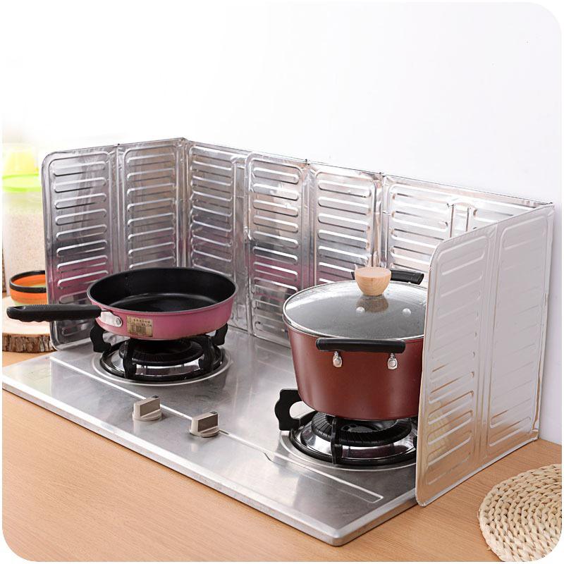 厨房煤气灶台挡油板创意隔油铝箔挡板炒菜隔热防油防溅烫挡板