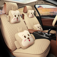 The 2016 seasons all around the car seat cushion linen cushion female four seasons general cartoon car seat cover