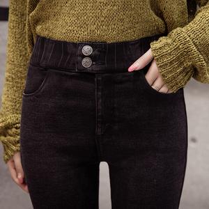 502#实拍打底裤女外穿春2018新款黑色薄款韩版高腰显瘦小脚铅笔裤