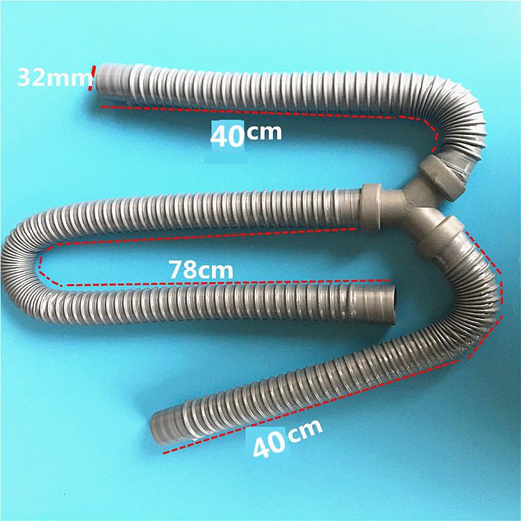 El trío de tuberías de agua de la manguera de agua vegetal de la cuenca de cuenca de limpiar la piscina compartida la manguera de drenaje de cloacas