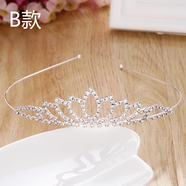 Cute girl children hair Princess hairpin with anti-skid tooth head hoop baby girls headdress