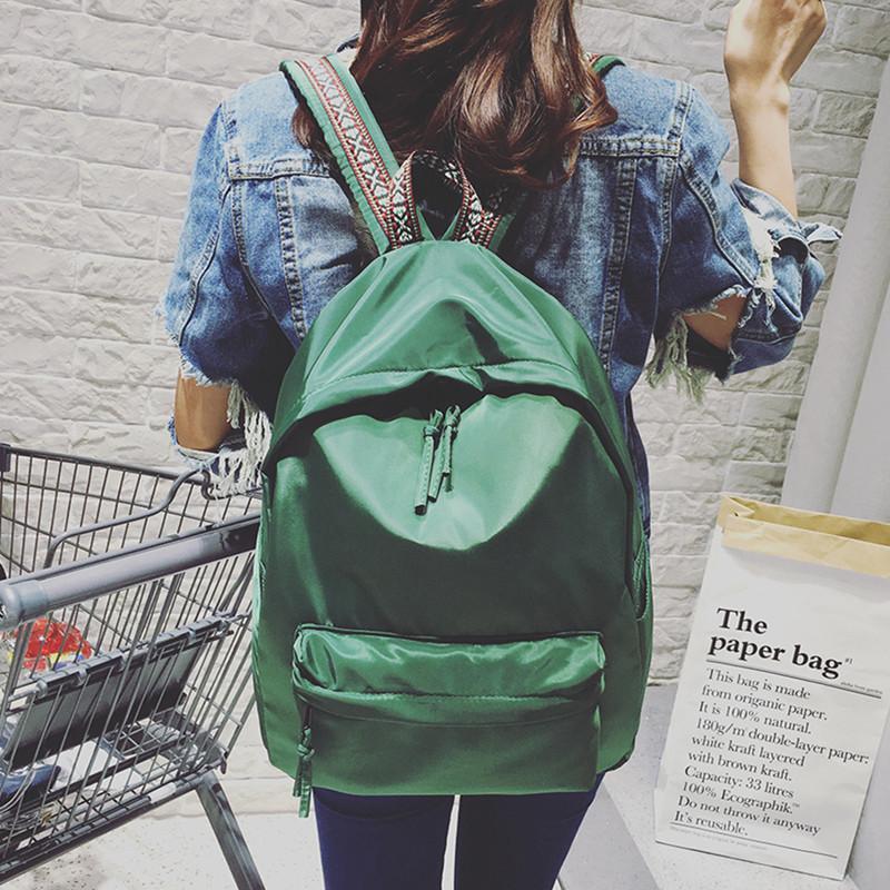 帆布双肩包男女日韩版学生书包简约复古民族风大容量背包旅行包潮