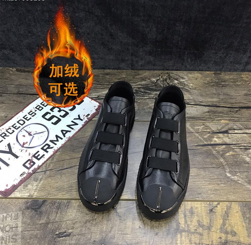 秋冬季男鞋英伦豆豆鞋皮鞋一脚蹬懒人鞋韩版潮流男士休闲鞋潮鞋