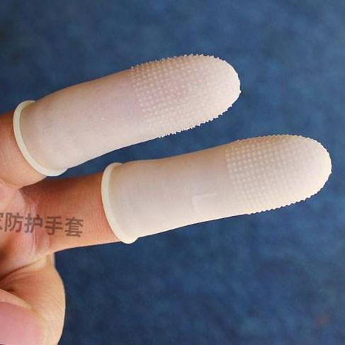 ゴム指には、防静電防止指
