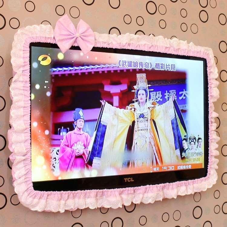شاشات الكريستال السائل التلفزيون شاشات الكمبيوتر الأكمام الدانتيل الحدود خاتم ديكور الجدار الشنق نسيج قناع الغبار الكرتون سطح المكتب