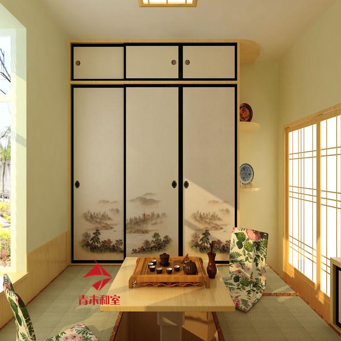 Shanghai Japanese tatami platform customized wardrobe custom solid wood bed bedroom study free design
