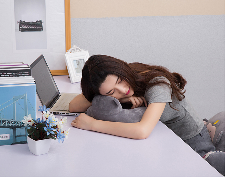 Japan free charge microwave heating type U health care pillow warm bag hot compress cervical detachable neck pillow