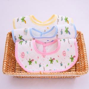 防水360度旋转婴儿围嘴纯棉新生儿男女宝宝口水巾纱布防吐奶围兜