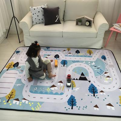 出口韩国四季绒慢回弹加厚客厅地垫儿童防滑爬行垫爬爬垫游戏地毯